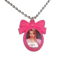 Regina George Necklace, Hot Pink Cameo, Mean Girls, Quirky Kitsch Jewellery
