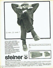 PUBLICITE ADVERTISING 036  1964  Steiner canapé -lit Baltimore fauteuil 2