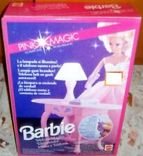PLAYSET BAMBOLA BARBIE DOLL-MOBILI PINK MAGIC/SET SCRIVANIA TELEFONO/PHONE DESK