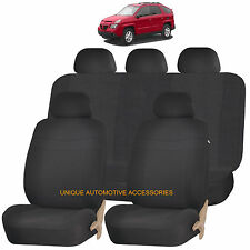 BLACK ELEGANCE AIRBAG COMPATIBLE SEAT COVER for PONTIAC MONTERO AZTEC