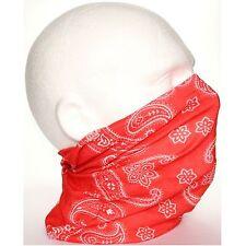 Tubo Redecilla Bufanda De Hombre Rojo Blanco Paisley Biker Máscara para bajo casco cara de esquí
