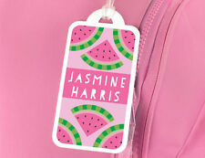 Bright Star Kids Personalised Name Tag for Luggage or Bag - Slices of Watermelon