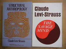 Claude Levi-Strauss 2 Used Book lot: Structural Anthropology + The Savage Mind