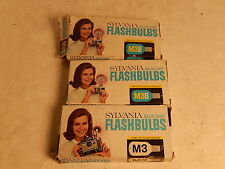 Vintage 29 Sylvania M3B Blue Dot Camera Flashbulbs