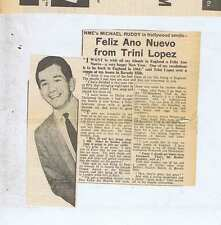 FELIZ ANO NUEVO Shazam Press Clipping 1964 15x15cm (3/1/64)