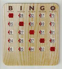 50 NEW IMPROVED LARGE SLIDE SLIDER SHUTTER BINGO GAME CARDS -No Duplicates- 2016