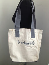 Cacharel Shopping Travel  Reusable Eco Bag Tote Large Off White Grey Fabric New