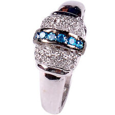 0.94 ct NATURAL REAL ROUGH DIAMOND .925 STERLING SILVER RING SIZE 7 see video