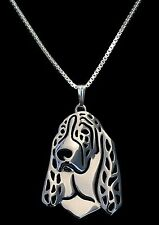 Basset Hound Dog Pendant Necklace -Fashion Jewellery - Silver Plated