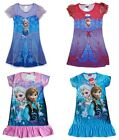 Girls Frozen Elsa Anna Nightdress Nightie Dress 2-8 Years