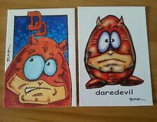 DAREDEVIL EGGHEAD HAND DRAWN COLOUR SKETCH CARD BY RAK MARVEL ACEO PSC