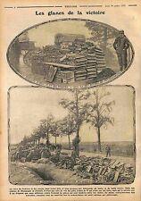 Poilus Artillerie Caisse de Munition Bataille de Champagne & d'Artois WWI 1915