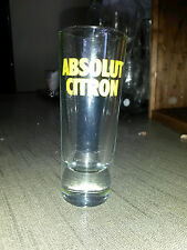 "4 Vintage 2 Oz. "" ABSOLUT CITRON "" Shot Glass:  4 1/8"" Tall - Weighted Base!"