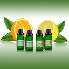 PURE ESSENTIAL OIL WILD ORANGE & LEMON GRASS ... 4 X 5ml BOTTLES