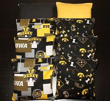 IOWA Hawkeyes cornhole bags All Weather Plastic Resin Filled Cornhole Bean Bags