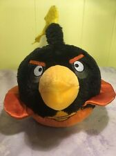 Angry Birds Black Space Bomb Plush Stuffed Bird Animal Toy NO SOUND 5""