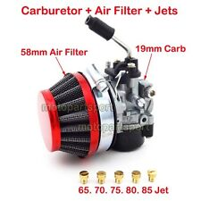 Racing Carburetor Red Air Filter Jets 50cc 60cc 80cc Motorized Bicycle Push Bike