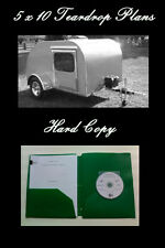 Hard Copy - 5' x 10' Teardrop Camp Trailer Plans,Instructions - Over 65 Pages!