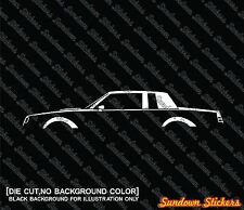2X Car silhouette stickers - for Buick Regal Grand national / GNX ,GM muscle car