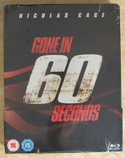 Gone in 60 Seconds Blu-Ray Steelbook [UK] Region Free Nicolas Cage Sealed Race