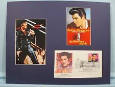 "Elvis Presley in ""Jailhouse Rock"" & First Day Cover of the Elvis Presley stamp"