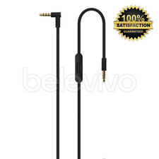 BLACK REPLACEMENT CABLE REMOTE MIC CONTROL TALK LEAD WIRE FOR BEATS BY DR DRE