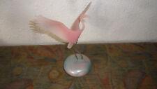 Vintage  Pink Flamingo  Signed Sculpture - Free Ship-