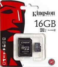 Original Kingston 16 Gb Clase 10 Tarjeta Micro Sd Y Adaptador Para Tesco HUDL 2 Tablet