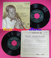 LP 45 7''LOUIS ARMSTRONG Vol.III West end blues Fireworks No one no cd mc dvd