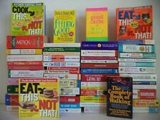 Lot of 55 Healthy Living Books~Weight Loss~Diet~Nutrition~Guide~Recipes~Remedies