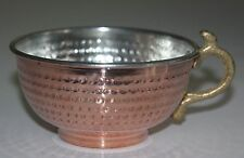 Copper Shaving Bowl / Mug / Cup with handle, for Shaving Brush + gift blades