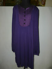 LADIES WHISTLES TUNIC DRESS WITH PURE SILK TRIM - - SIZE UK 12