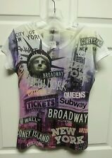 New York Women Top Size Large Sweet Gisele NWT Statue Of Liberty Broadway Queens