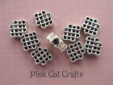 20 x CELTIC KNOT SPACER 10x8mm Tibetan Silver Beads Findings
