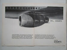 9/1972 PUB SHORTS LOCKHEED TRISTAR ROLLS-ROYCE RB.211 ENGINES ORIGINAL AD
