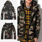 Hot Fashion Men's Army Camo Jacket Camouflage Military Hood Hip hop Coat Jacket