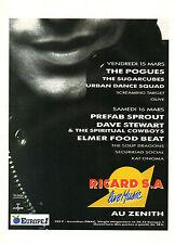 Publicité Advertising 1991 Radio EUROPE 1  RICARD S.A  Live Music au ZENITH