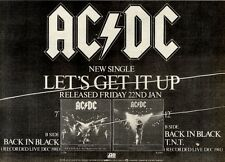 23/1/1982Pg17 Single Advert 7x10 Ac/dc, Let's Get It Up