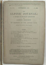 1893 ALPINE JOURNAL 122 A RECORD OF MOUNTAIN ADVENTURE  & SCIENTIFIC OBSERVATION