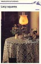 Lacy Squares Tablecloth & Bedspread crochet patterns