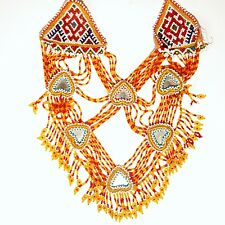 Belly Dance ATS Tribal Beaded NECKLACE Kuchi Afghani 806a2