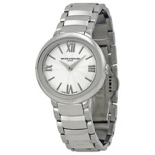 Baume and Mercier Promesse Silver Dial Stainless Steel Ladies Watch MOA10157