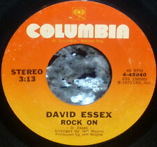 "* * ""Hey kids...ROCK ON...Jimmy Dean"": DAVID ESSEX 1974 #5 CLEAN M- 1st PRESS 45"