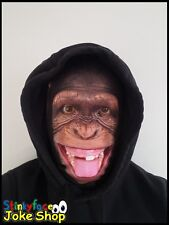 Cheeky Monkey Full Head Mask Realistic Animal Printed Lycra Funny Fancy Dress