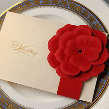 20 Wedding invitation cards with envelopes, seals, custom personalized printing