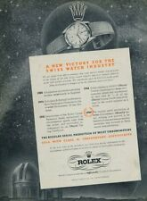 Vinage 1950 Rolex A New Victory for the Swiss Watch Industry Swiss Ad Advert CH