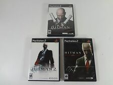 HITMAN CONTRACTS SILENT ASSASSIN BLOOD MONEY PLAYSTATION 2 TWO FREE SHIPPING