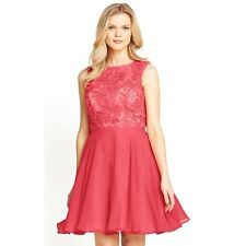 New Coral Lace Top Prom Dress by Definitions. RRP £80. Size 12