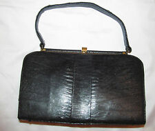 vintage ALLIGATOR CROCODILE CROC BELLESTONE black handbag purse