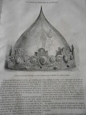 Cabacet de Ferdinand Le Catholique Armeria real de Madrid Gravure Old Print 1872